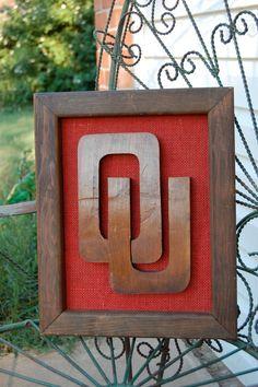 OU Sooners University of Oklahoma Wood Cutout Wall by oklahomared, $24.00