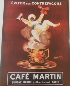 NEW EVITER LES CONTREFACONS CAFE MARTIN VINTAGE AD POSTER 18X24 PRINT #Vintage