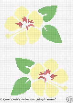 Crochet Patterns Hibiscus Hawaii State Flower   eBay
