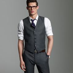 The look for the boys but in a lighter grey with the rose tie.