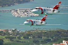 Coast Guard Falcons over Base Miami Beach and Fisher Island