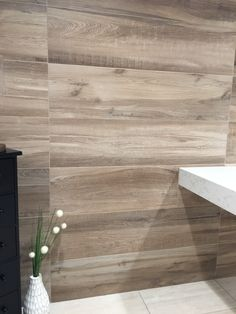 Porcelain Wood Tile Aequa Series from Italy is available in numerous styles, colors, and patterns at Arizona Tile locations. Wood Wall Tiles, Wood Look Tile, Bathroom Accent Wall, Accent Walls, Master Bathroom, Porcelain Wood Tile, Church Design, Commercial Design, Amazing Bathrooms