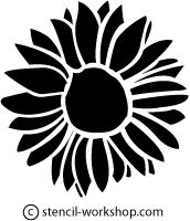 Sunflowers On Pinterest Sunflower Paintings Stencil And