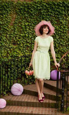 Green. Vintage Lace Bridesmaids Dress   Lifetime of Love