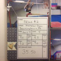 Custom gymnastics scorecard by laurelwilliams at @Studio_Calico #SCCROP2014