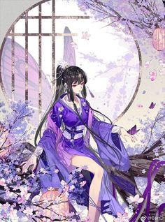 Pretty Anime Girl, Beautiful Anime Girl, Kawaii Anime Girl, Anime Art Girl, Anime Kimono, Anime Angel, Chica Anime Manga, Manga Girl, Katsura Kotonoha