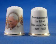 Porcelaine dé à coudre de collection Jean-Paul