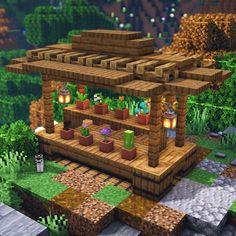 Photo Minecraft, Minecraft Farmen, Construction Minecraft, Minecraft Building Guide, Minecraft Mansion, Easy Minecraft Houses, Minecraft House Tutorials, Minecraft Medieval, Minecraft Decorations