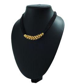 DIY idea -- Womens Trendz Dot Mani Manchali Mangalsutra Gold Mangalsutra Designs, Gold Earrings Designs, Gold Jewellery Design, Bead Jewellery, Black Thread, Jewelry Model, Chains, Blond, Necklaces