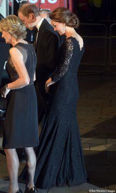 Kate Wows in Black Lace Diane von Furstenberg at Royal Variety Performance » What Kate Wore