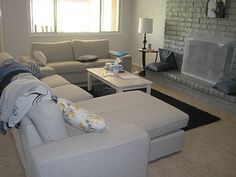 IKEA Kivik sofa with chaise and loveseat