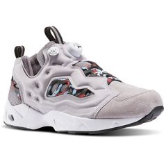 Reebok InstaPump Fury Road MCT (3.766.560 VND) ❤ liked on Polyvore featuring men's fashion, men's shoes, men, shoes, mens leopard print shoes, reebok mens shoes, mens nubuck shoes and mens shoes