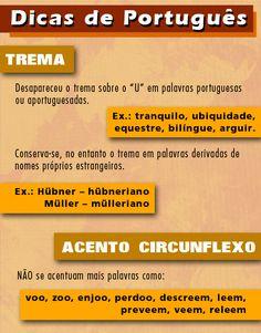 Dicas para ficar atualizado e não perder nenhuma questão! #estude #dicas #ortografia #gramatica #trema #acento #lingua #portugues