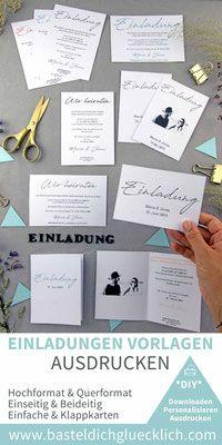 Minimalistisch 133 Word Vorlagen Zum Ausdrucken Einladungskarten Hochzeit Selber Machen Diy Hochzeit Planen Und Ausdrucken