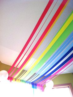 rainbow birthday party – creative balloon clouds theme –