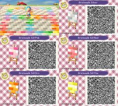 Patchwork tiles animal crossing new leaf qr code for Carrelage kitsch animal crossing new leaf