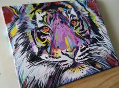 ideas for painting acrylic tiger wildlife art Tiger Painting, Eye Painting, Painting Abstract, Abstract Canvas, Canvas Art, Tiger Art, Lion Art, Abstract Animals, Wildlife Art