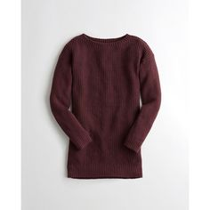 Hollister Ribbed Sweater Dress ($25) ❤ liked on Polyvore featuring dresses, burgundy, ribbed dress, rib dress, burgundy sweater dress, burgundy ribbed dress and burgundy dress
