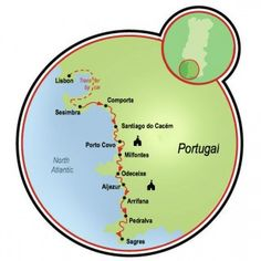 Portugal's Wild Coast Map Porto Covo Portugal, Travel Tours, Travel Ideas, Going On Holiday, Holiday Destinations, Cool Bikes, Lisbon, Touring, Cycling