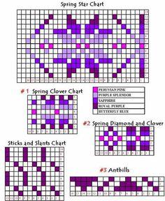 The Zees Go West: Adapting a Fair Isle Motif Fair Isle Knitting Patterns, Knitting Charts, Knitting Stitches, Knitting Designs, Knit Patterns, Bead Patterns, Motif Fair Isle, Fair Isle Chart, Fair Isle Pattern