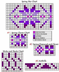 Two Color Fair Isle Patterns | First, I printed out a copy of the pattern. I planned to use both ...