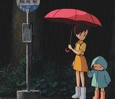 My Neighbor Totoro Studio Ghibli Art, Studio Ghibli Movies, Gifs, Anime Nerd, Howls Moving Castle, My Neighbor Totoro, Animation, Kawaii, Hayao Miyazaki