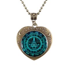 Gravity Falls Bill Cipher Heart Necklace