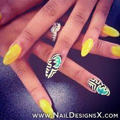 hot summer nail design