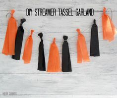 A Streamer Tassel Garland is a cheap and easy party decoration. Learn how to make one with this simple tutorial.