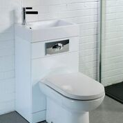 2 in 1 toilet combos has the basin attached to the toilet cistern saving room and water. Basin on top of the Toilet. Buy two in one toilet and basins online from Rubberduck Bathrooms Basin Sink Bathroom, Sink Taps, Small Kitchen Sink, Contemporary Toilets, Back To Wall Toilets, Toilet Cistern, Shower Fittings, Towel Radiator, Wet Rooms