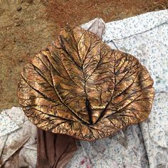 Homemade cement leaves. Big or small options, bird baths or bowls!