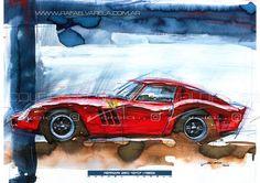 Ferrari 250 GTO (1963) - Fine art print by Rafael Varela