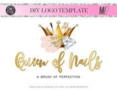 NAIL LOGO DESIGN nails Logo Logo design Logo Premade logo   Etsy Makeup Artist Logo, Nail Artist, Custom Logo Design, Custom Logos, Graphic Design, Logan, Pink Gold Nails, Nail Logo, Eyelash Logo