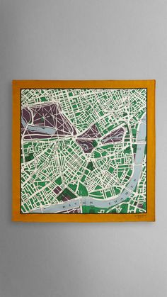 London Map Print Silk Square | Burberry