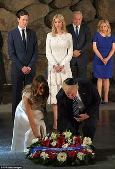 Melania and Ivanka both wear white at Holocaust memorial #dailymail