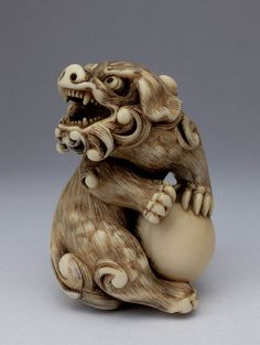 Netsuke - A netsuke is a small sculptural object which has gradually developed in Japan over a period of more than three hundred years.