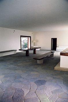 Casa Malaparte. Designed by Adalberto Libera on the island of Capri, Italy