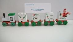 vintage wooden Noel Christmas train by ALEXLITTLETHINGS on Etsy