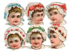 Old victorian scraps, baby heads