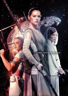 Star Wars Trilogy of Trilogies - Padme, Leia & Rey