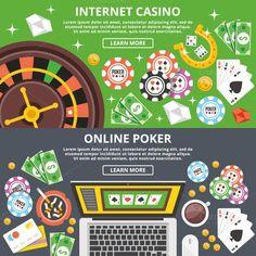 Internet Casino, Poker Banners Set. Graphic Design Infographics. $5.00