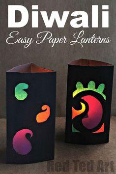 Paper Lantern Kids' Diwali Easy Paper Lanterns for Kids' Diwali. How to make a lantern for Diwali.Easy Paper Lanterns for Kids' Diwali. How to make a lantern for Diwali. Diwali Craft For Children, Lantern Crafts, Kids Lantern, Diy Paper Lanterns, Paper Lantern Making, How To Make Lanterns, Light Crafts, Diwali Activities, Diwali Lantern