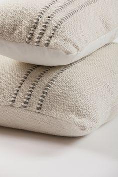 Grey Striped Decorative Pillow   Homelosophy.com