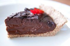 Mayan Dark Chocolate Pie (Dairy-Free)... and its vegan... awesome!