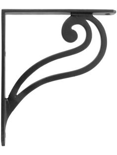 "Scroll Design Iron Shelf Bracket - 7 1/8"" X 6 1/8"". Black Iron Brackets. by House of Antique Hardware, Inc.. $9.99. With its single, oversized scroll, this simple shelf bracket makes a bold, graphic statement. Medium sized, it's useful for shelving in any room. Crafted from heavy duty cast iron and finished with a durable, black powder coat.Dimensions: 7 1/8"" H x 6 1/8"" L x 7/8"" W. Bracket includes slotted screws for mounting. When supporting heavy items, longer screws fastened..."
