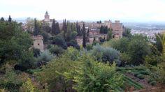 Alhambra - view from Generalife - photo: Robert Bovington  # Alhambra # Granada #Andalusia #Spain http://bobbovington.blogspot.com.es/2011/10/alhambra.html