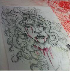 Medusa WIP by JoshDixArt.deviantart.com on @deviantART
