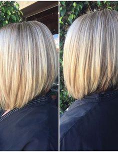 21 Eye-catching A-line Bob Hairstyles: #12. Medium A-line bob (for thick hair)