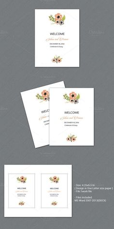 Wedding Welcome Basket Tag. Stationery Templates. $6.00