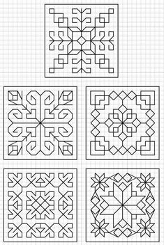 Kasuti Embroidery, Cross Stitch Embroidery, Embroidery Patterns, Graph Paper Art, Blackwork Patterns, Zentangle Patterns, Blackwork Cross Stitch, Cross Stitching, Drawing Tips